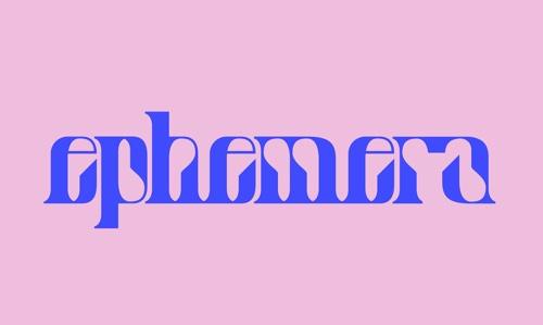 Free Fonts Ephemera web design