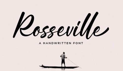 Free Fonts Rosseville web design