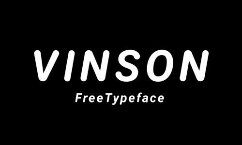 Free Fonts Vinson web design