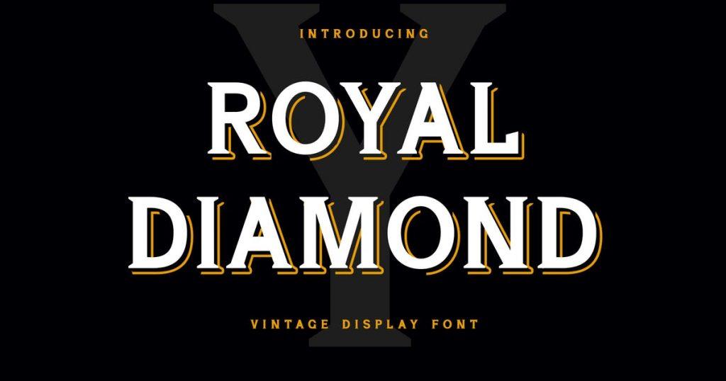 Royal Diamond Display Serif Font
