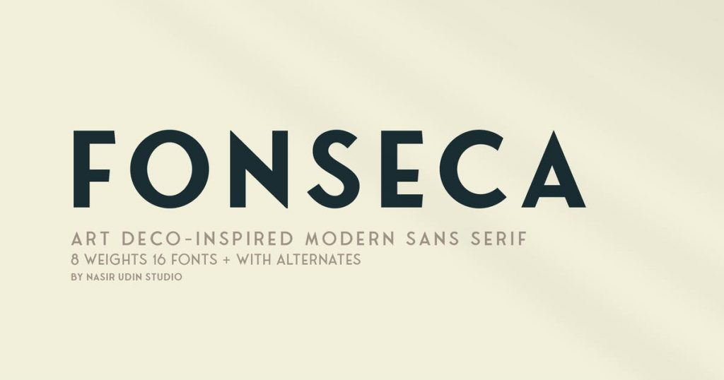 Fonseca - Art Deco Font Family Pack